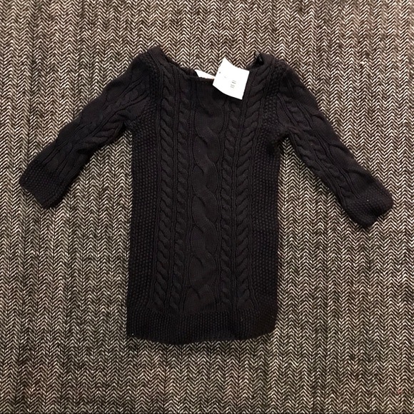 Joe Fresh Other - 🎆sale Joe fresh cable knit navy dress NWT size 2T